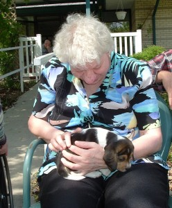 Puppy Visitors | Blue Valley Care Home | Mentally Disabled Care Nebraska